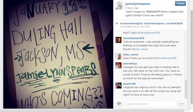 Image Jamie Lynn Spears Instagram