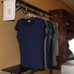 Shirts for sale at Angelia Brown of Pilates of Jackson .
