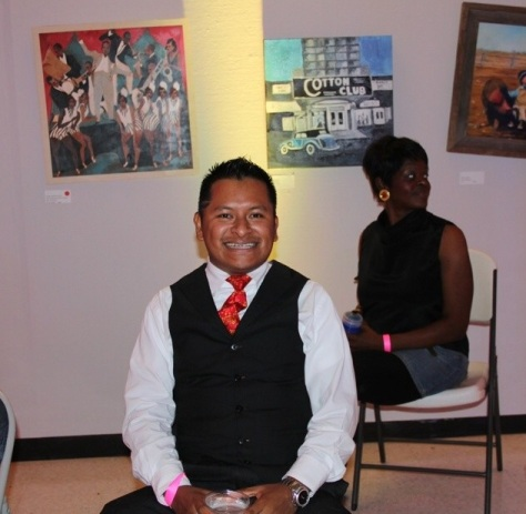 Local entrepreneur Israel Martinez at the 2014 10th Annual JFP Chick Ball.