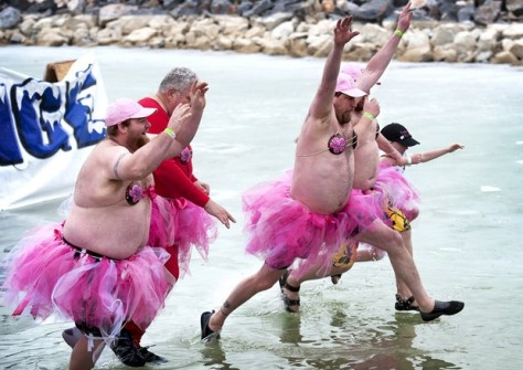 Plungers from Special Olympics Utah 2012 Plunge. (Photo courtesy of heraldextra.com. )