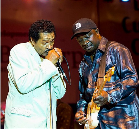dexer allen and bobby rush on stage
