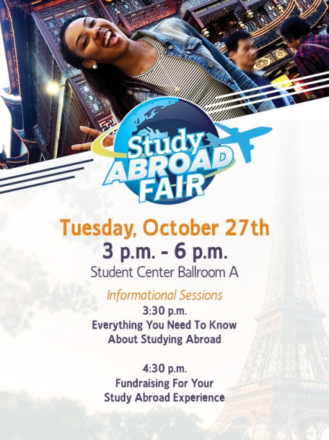 Students interested in Jackson State's Study Abroad Program can get more information at the upcoming Study Abroad Fair.
