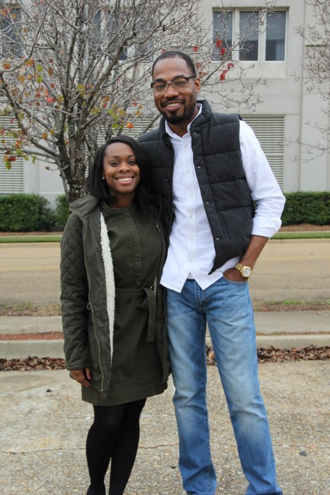Thaddeus and girlfriend Shelly Marc visited his parents in Jackson during the holiday season. (December 30, 2015).
