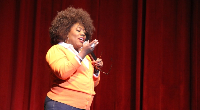 Sheryl Underwood hosting the MS Greek Weekend Step & Comedy Show in Jackson MS, September 30, 2016.